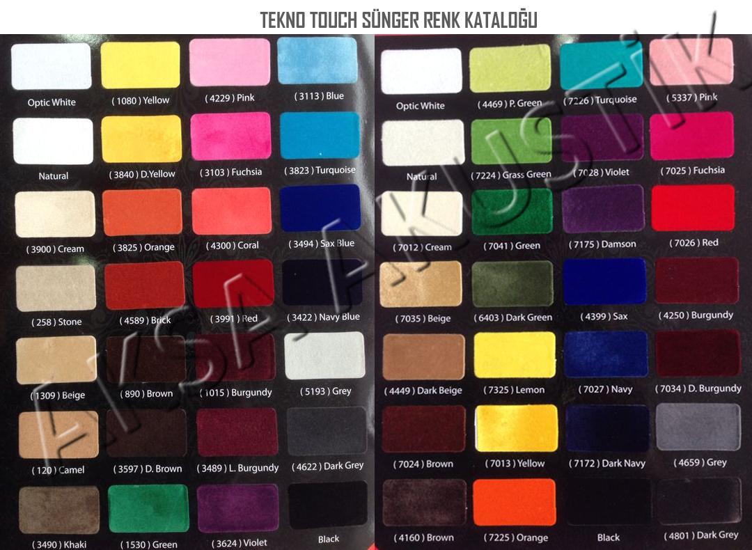 tekno touch sünger renk kataloğu aksa akustik